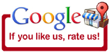 Google, if you like us,rate us